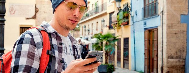 Traveler With Smartphone
