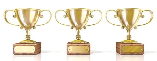 3 Golden Trophies