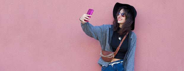 Millennial Taking Selfie