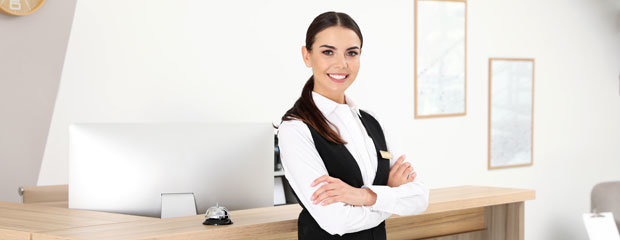 Smiling Hotel Receptionist